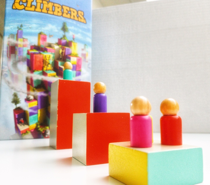 The Climbers by Capstone Games and Simply Complex blocks and wood