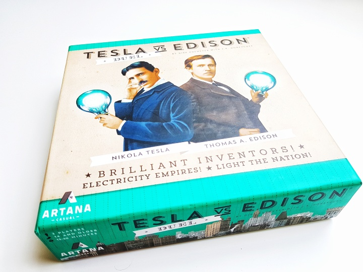 War of Currents in a tiny card game, a review of Tesla vs. Edison: Duel by Artana Games