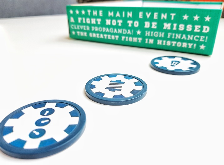 The three technologies. Those are stickers on thick poker chips and are going around the table a lot.