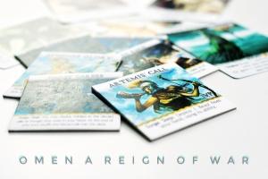 Kickstarter preview omen a reign of war beautiful artwork on the city reward tiles