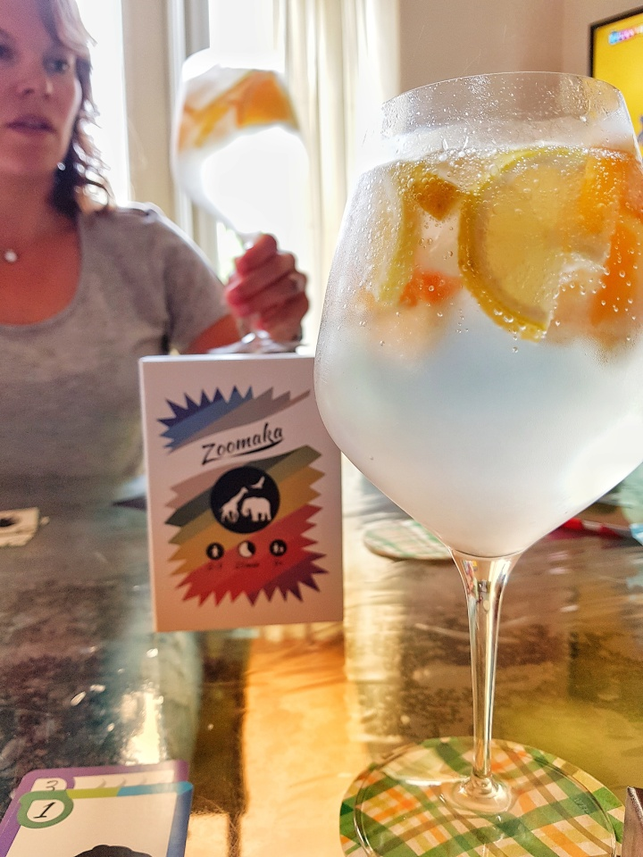 gin tonic for a card game of zoomaka