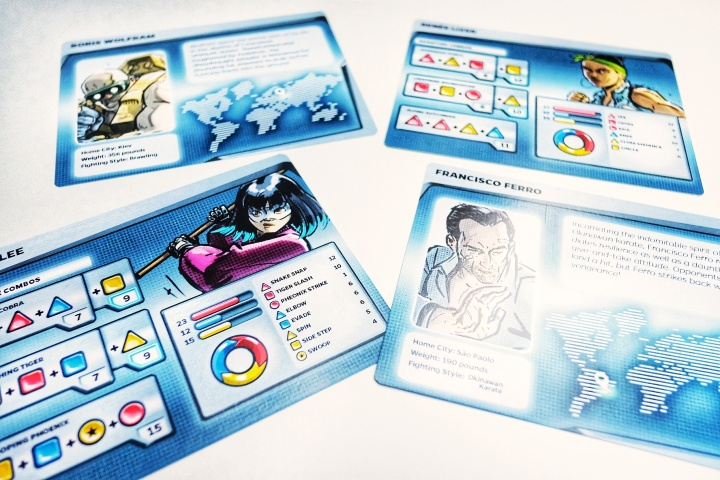 Combo Fighter character sheets