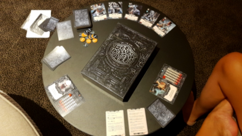 Terrors of London cards and box cover Kickstarter