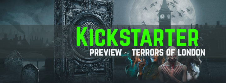 Kickstarter banner El Crosso a board game life terrors of london