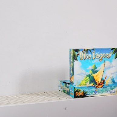 Blue Lagoon by Reiner Knizia in the wild. Geronimo publisher