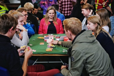Social gaming always attracts a lot of young people and they were having a blast. Exploding Kittens and Unstable Unicorns by Asmodee