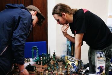 Games Workshop demo's and workshops building miniatures