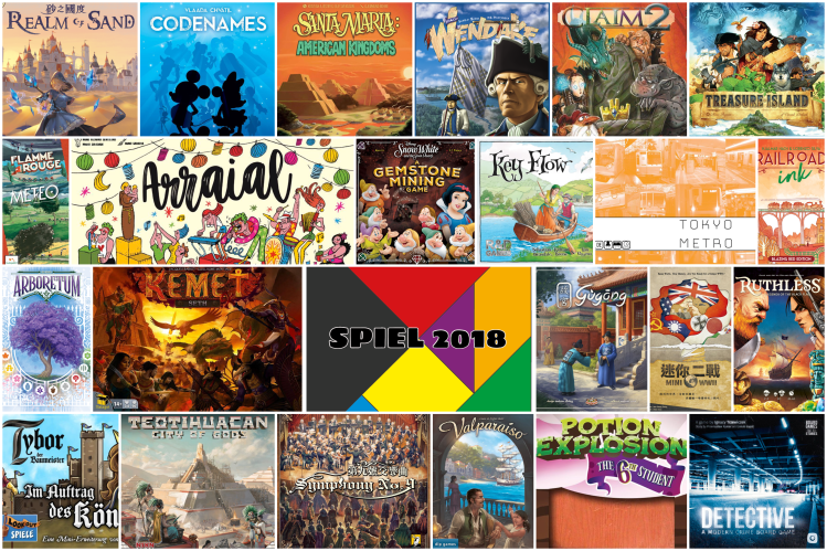 SPIEL 2018 overview board games