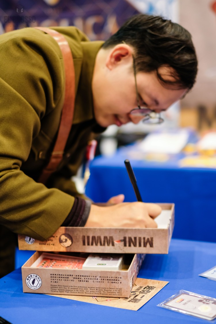 Spiel 2018 Mini WWII by Formosa Force Games from Wei-Cheng Cheng signing