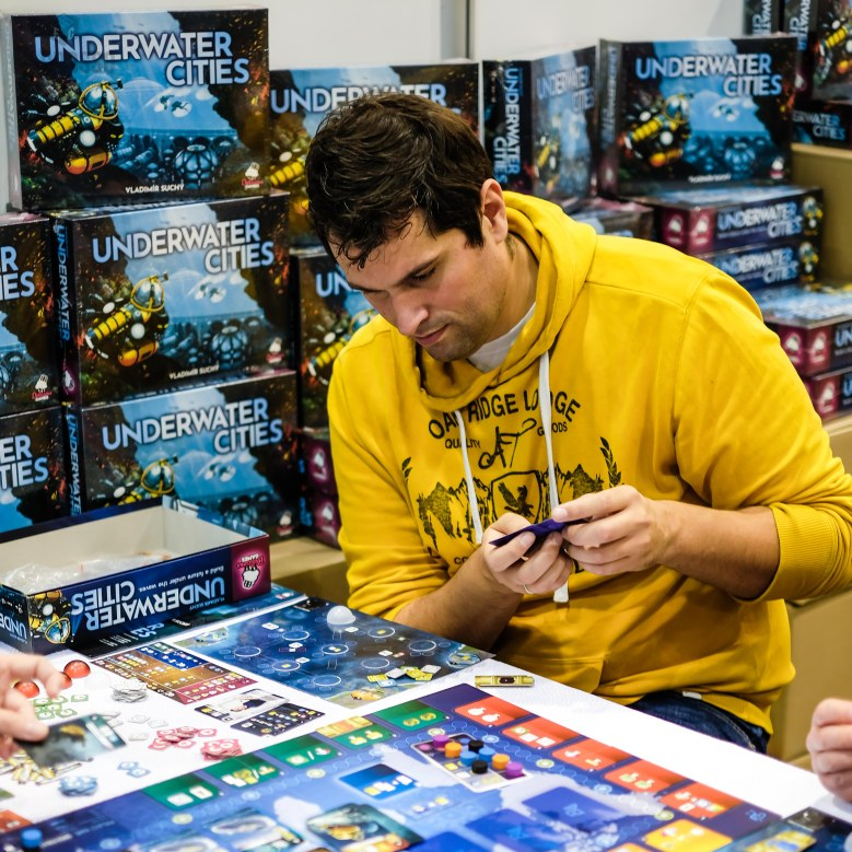 Spiel 2018 Underwater Cities by Delicious Games and Vladimir Suchy boxes