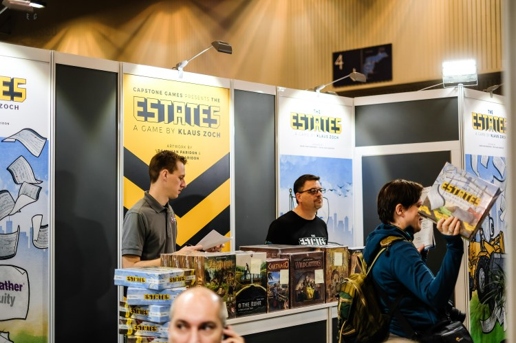 Spiel 2018 the Capstone Games Booth Essen Clay Ross