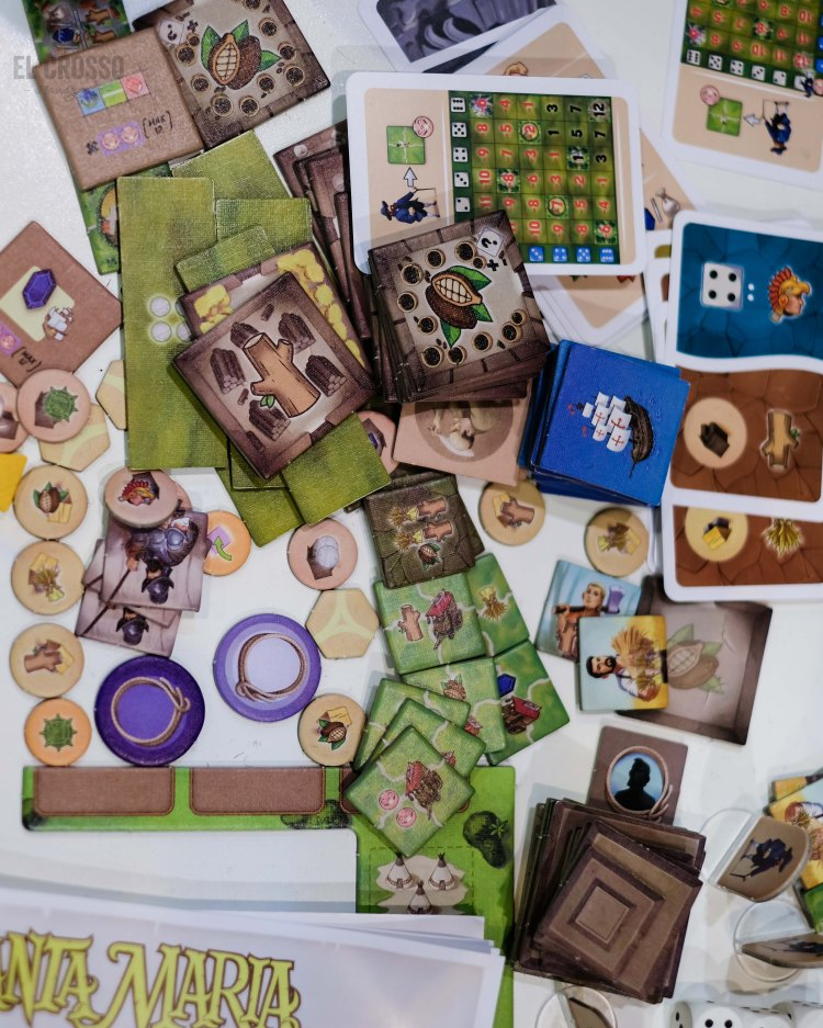 Spiel 2018 Santa Maria American Kingdoms components by Aporta Games
