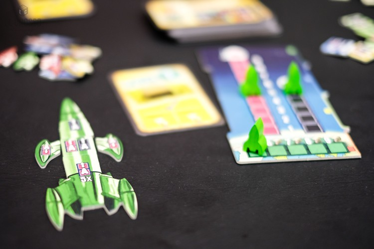 Lift Off by Hans im Glück at Spiel 2018 Demo Hall Space Ship
