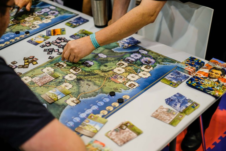Spiel 2018 Lincoln by PSC Games Martin Wallace gameboard